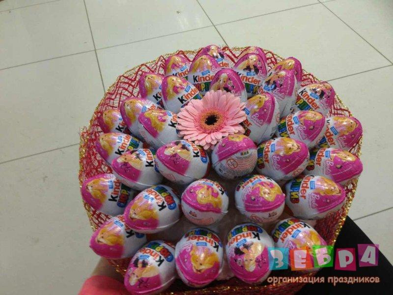 Букет из киндер яиц фото
