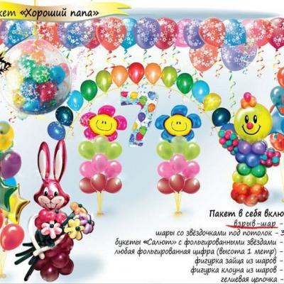 Воздушные шары на детский праздник